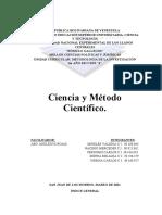 CIENCIA Y METODO CIENTIFICO. 1ER AÑO SECCION 4. METODOLOGIA DE LA INVESTIGACION