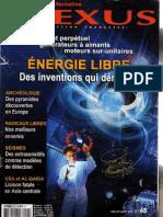 Nexus 45 - juillet aout 2006 - Energie libre, Al-Qaida, Pyramides en Europe, Psychotronique, Radicaux libres, Anton Parks & Sumer 3ème partie (complet)