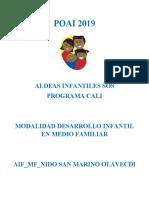 POAI OLAVECDI - ALCALDÍA 2019