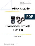 Exercices rituels