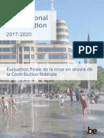 Contribution fédérale au Plan national d'adaptation 2017-2020
