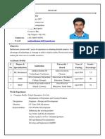 ResumeP.SanthoshKumar