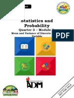 Statistics _ Probability_Q3_Mod2_Mean and Variance of Discrete Random Variable v2