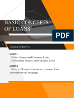 The Basic Concepts of Loans