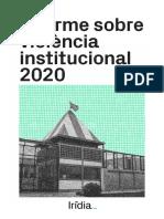 """Informe d'Irídia """"Violència Institucional 2020"""""""