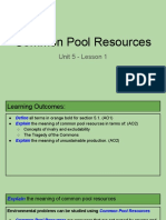 unit 5 - lesson 1 - common pool resources