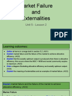 unit 5 - lesson 2 - market failure  and  externalities