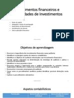 Licao 06 Investimentos financeiros e propriedades de  Investimentos