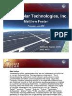 Ascent Solar Investor Presentation