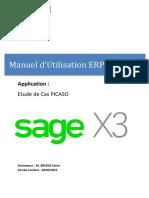 ERP SAGE X3  Support Etudiant