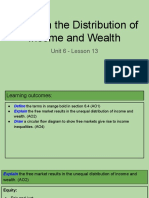 unit 6 - lesson 13 - equity in the distribution of income and wealth