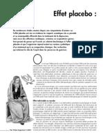 Nexus 52 - Santé - Effet Placebo Et Pourtant, Ça Marche