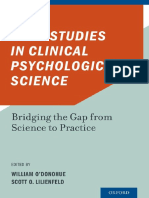Case Studies in Clinical Psychological Science Bridging the Gap From Science to Practice by William ODonohue, Scott O. Lilienfeld (Z-lib.org)