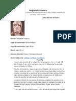 Biografía de Homero y sofocles