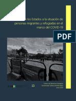 Respuesta de los Estados a la situación de personas migrantes y refugiadas en el marco del COVID-19