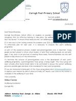 letter - parent focus group