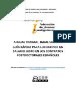 Guía Rápida Aumento Salario Postdocs