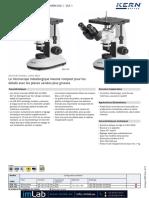 Brochure Fr OLE 1 OLF 1 Microscopes Metallurgiques Inverses Kern Imlab 1