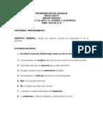 CONTENIDO DE LA H GRADO 6° LENGUAJE