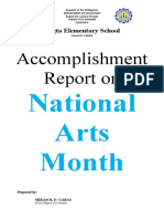 LUGTA NARRATIVE REPORT on National Arts Month