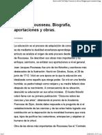 Jacques Rousseau. Biografía, Aportaciones y Obras.