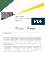 [Healthbio] Business Plan & Valuation Guidanceq54e