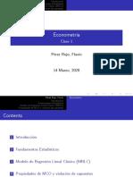 Notas de clase Fundamentos de Econometría