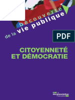 Christian Le Bart - Citoyenneté et démocratie (2016, La Documentation française)