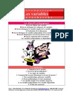 Définition des variables en sciences