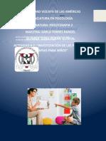 Investigacion Primeras Terapias Para Niños