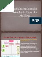 Dezvoltarea Științelor biologice în Republica Moldova