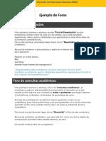 Ejemplo de Foros Presentacion Consultas y Cafeteria
