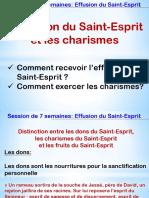 1_ 6-7 Les charismes - L'effusion du Saint-Esprit