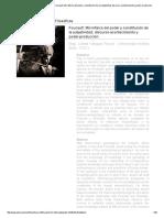 Revista Observaciones Filosóficas - Foucault_ Microfísica Del Poder y Constitución de La Subjetividad; Discurso-Acontecimiento y Poder-producción
