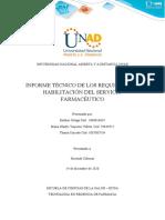 Fase 5. Evaluacion de las condiciones de habilitacion de un servicio farmaceutico