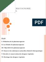 La PHARMACOGNOSIE GENERAL Cours 3eme Année pharmacie Dr KARCH