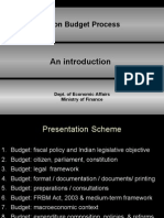 Union Budget Process - An Introduction