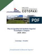 PLAN DE IGUALDAD DEL INSTITUTO SUPERIOR TECNOLÓGICO COTOPAXI 2020-2021.docx