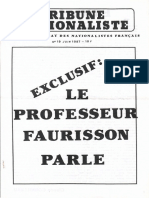 Faurisson Robert - Tribune Nationaliste