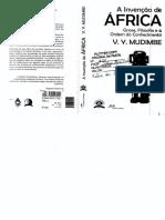 Mudimbe, V. Y. - A Invenção Da ÁfricA
