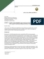 SDGE AL 3689-E Non-Standard Disposition Letter