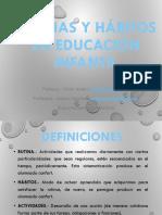 TEMA 3. Rutinas y habitos en educacion infantil