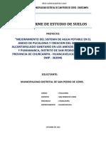 Informe de Estudio de Suelos Pucaloma