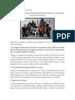Informe de Reunión Varones Reapertura Iglesia Lluvias de Gracia 13 Marzo 2021