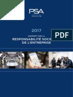 Groupe PSA Rapport RSE 2017