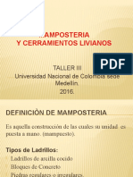 PRESENTACION MAMSPOSTERIA TALLER III UNAL