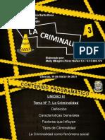 Tema 7 La Criminalidad