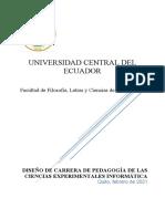 Diseño de Carrera de Pedagogía de Las Ciencias Experimentales Informática Filosofía UCE (2) - Copia