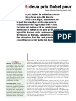 Nexus 61 - VIH - Deux prix Nobel pour 'l'erreur médicale du siècle' (mars 2009)