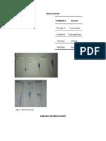 analisis de resutados informe 1 quimica